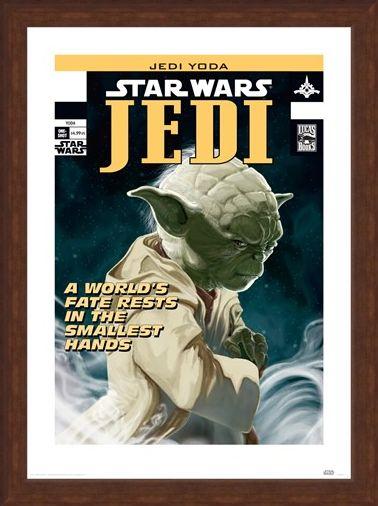 Framed Framed Yoda - World's Fate - Star Wars