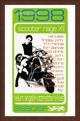 Framed Framed Scooter Rage XII - Frank Kozik