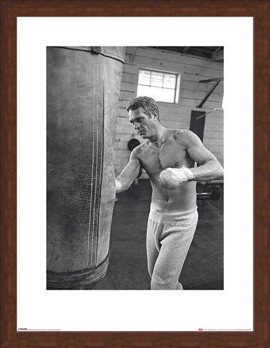 Framed Framed Steve McQueen - Boxing - Time Life