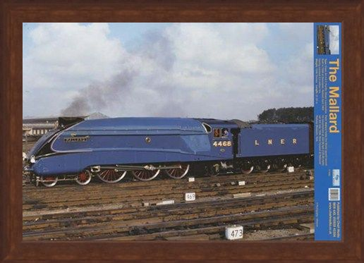 Framed Framed Steaming Ahead Of The Competition - Mallard Train