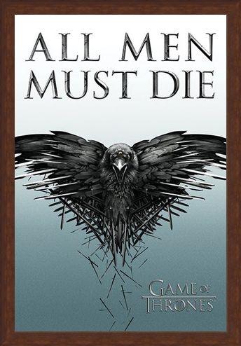 Framed Framed All Men Must Die - Game Of Thrones