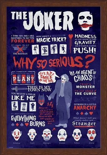 Framed Framed Joker Quotographic - Why So Serious?