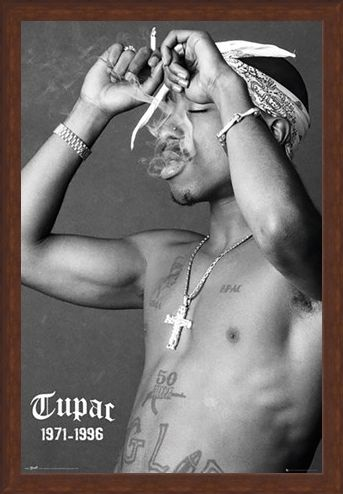Framed Framed Music, Morals and Cigarettes - Tupac