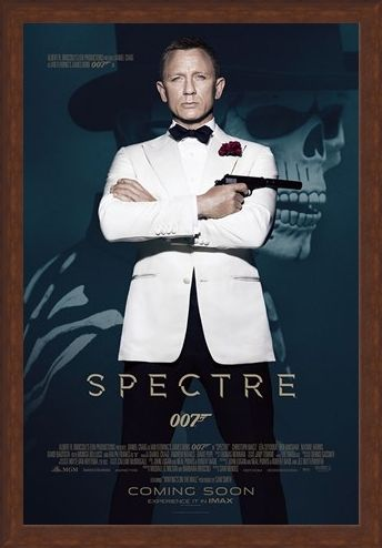 Framed Framed Spectre  Skull - James Bond