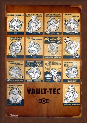 Framed Framed 'Revolutionizing Safety For An Uncertain Future' - Fallout 4 Vault Tec Compilation