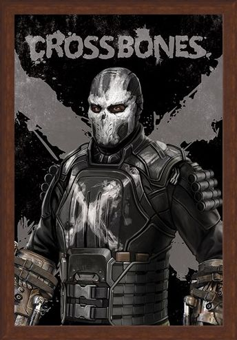 Framed Framed Crossbones - Captain America Civil War