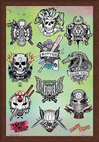 Framed Framed Tattoo Parlor - Suicide Squad