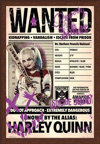Framed Framed Harley Wanted - Suicide Squad