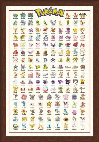 Framed Framed Original 151 - Pokemon Kanto