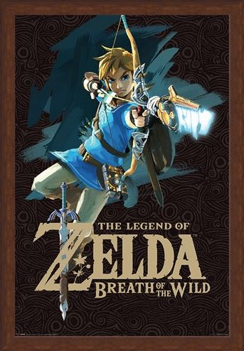 Framed Framed Breath Of The Wild Cover Art - The Legend Of Zelda