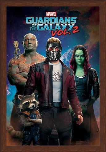 Framed Framed Characters In Space - Guardians Of The Galaxy Vol.2