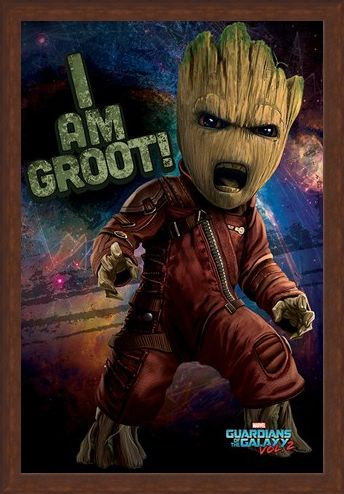 Framed Framed Angry Groot - Guardians of the Galaxy Vol.2