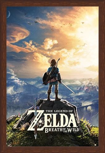 Framed Framed Sunset Over Hyrule - The Legend Of Zelda: Breath Of The Wild