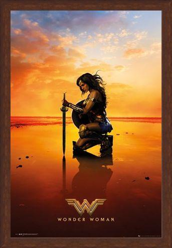 Framed Framed Kneel - Wonder Woman