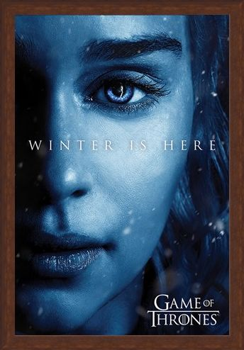 Framed Framed Winter is Here - Daenerys - Game Of Thrones