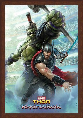 Framed Framed Old Friends - Thor Ragnarok Thor And Hulk