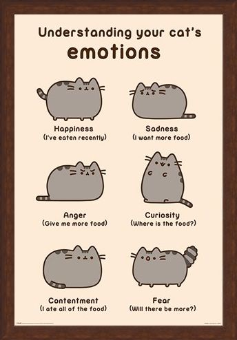 Framed Framed Cats Emotions - Pusheen