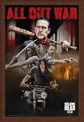 Framed Framed Season 8 Collage - The Walking Dead