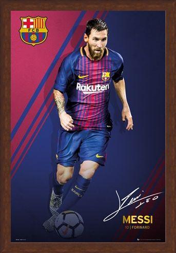 Framed Framed Messi 17/18 - Barcelona