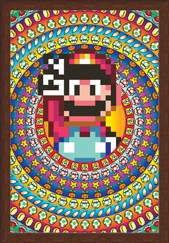 Framed Framed Power Ups - Super Mario