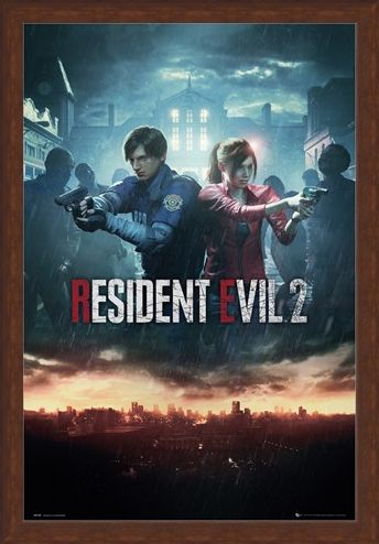 Framed Framed City Key Art - Resident Evil 2