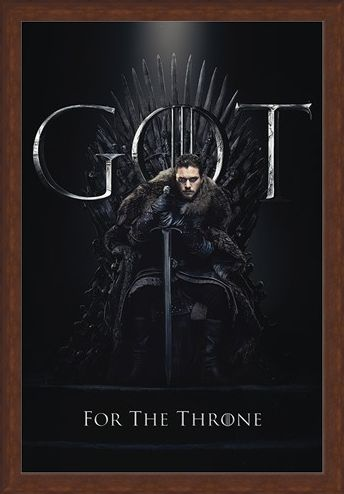 Framed Framed Jon For The Throne - Game Of Thrones