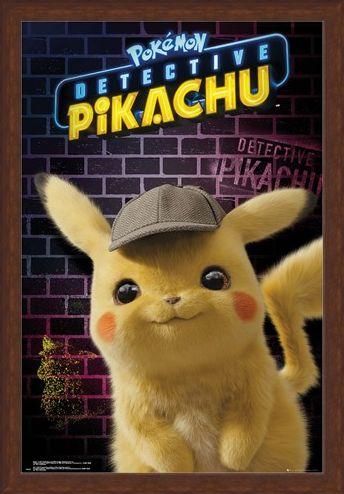 Framed Framed Pikachu Detective - Pokemon Pikachu