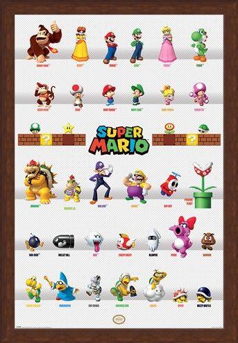 Framed Framed Character Parade - Super Mario