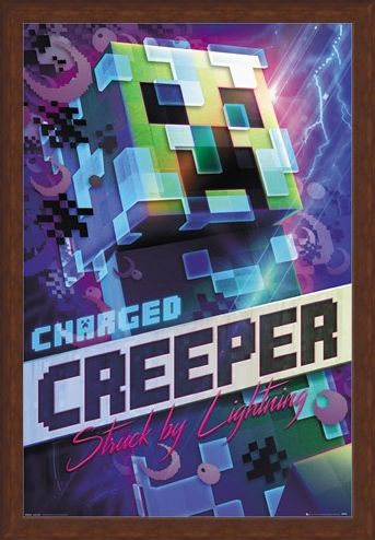 Framed Framed Charged Creeper - Minecraft