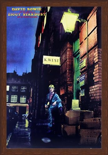 Framed Framed Ziggy Stardust Album Cover - David Bowie