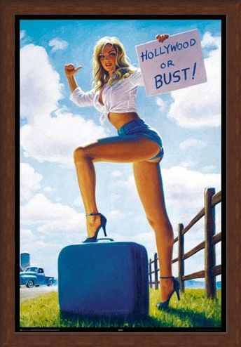 Framed Framed Hollywood or Bust - Greg Hildebrandt