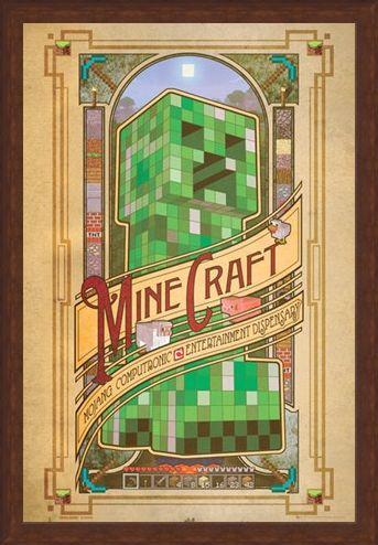 Framed Framed Mojang Computronic Entertainment Dispensary - Minecraft