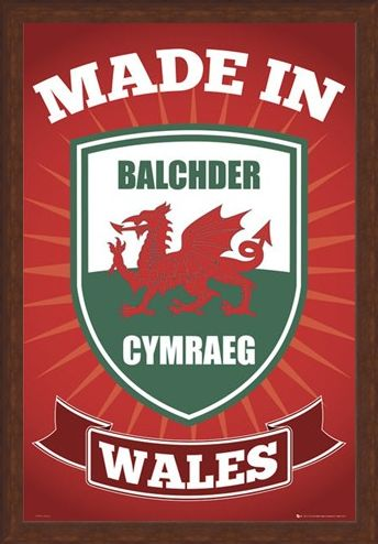 Framed Framed Made in Wales - Welsh Pride