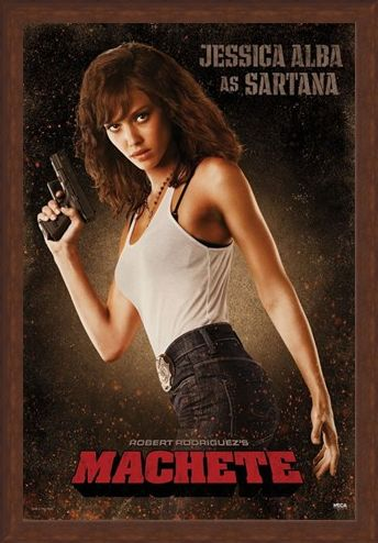 Framed Framed Jessica Alba is Sartana - Machete