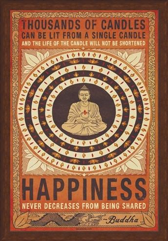 Framed Framed Happiness - Buddhist Values