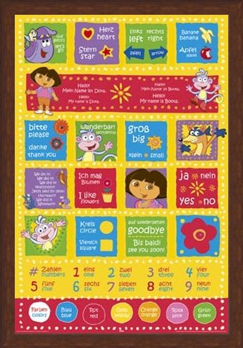 Framed Framed Dora The Explorer Learning German - German to English