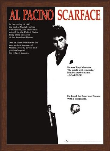 Framed Framed Scarface Movie Score - Al Pacino - Scarface
