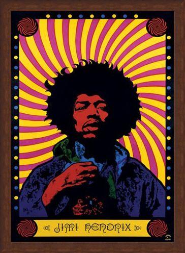 Framed Framed Psychedelic - Jimi Hendrix
