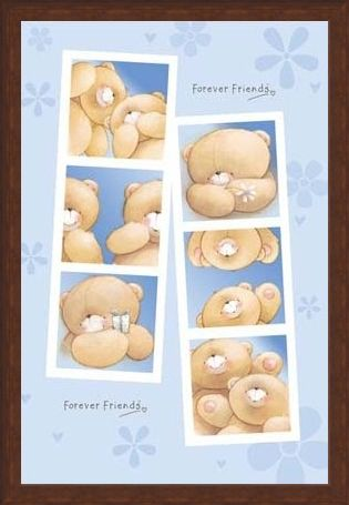 Framed Framed Cartoon Strip Bears - Forever Friends