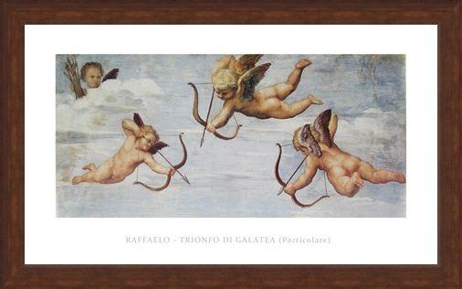 Framed Framed Trionfo Di Galetea - Raffaello Sanzio Raphael