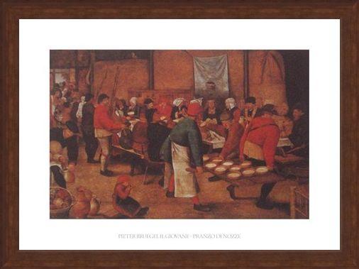 Framed Framed The Peasant Wedding - Pieter Bruegel