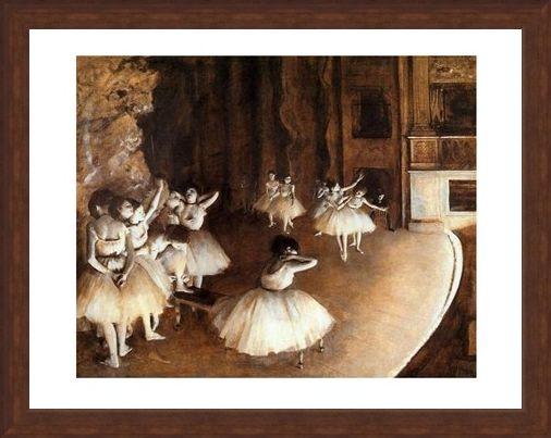 Framed Framed The Rehearsal on Stage - Edgar Degas