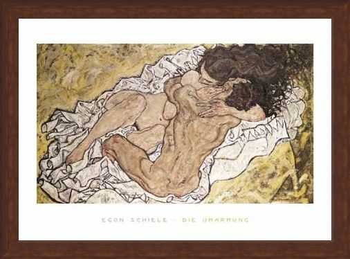 Framed Framed The Embrace (Lovers II), 1917 - Egon Schiele