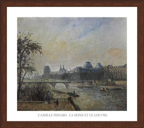 Framed Framed The Seine and The Louvre - Camille Pissaro