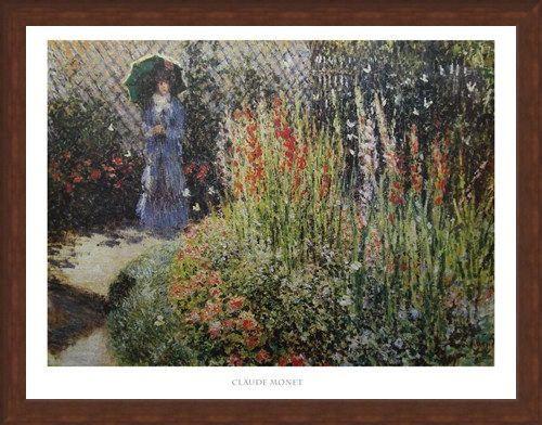 Framed Framed Gladioli - Claude Monet