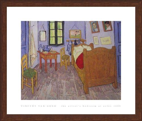 Framed Framed The Artist's Bedroom at Arles 1889 - Vincent Van Gogh