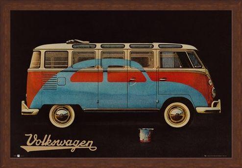 Framed Framed Volkswagen - VW Camper