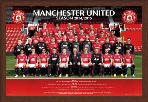Framed Framed Team Photo - Manchester United 2014/15