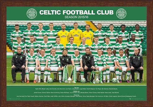 Framed Framed Team Photo 2015/16 - Celtic Football Club