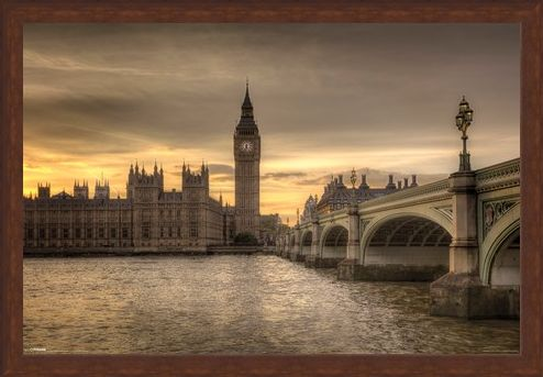 Framed Framed Big Ben - A Watchful Eye Over London